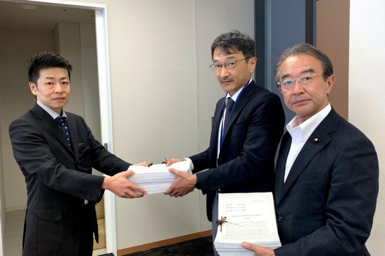 「石綿関連法規の抜本改正を求める署名」の第2次提出行動
